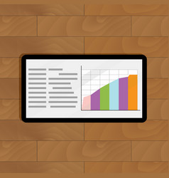 Growth data on screen tablet vector