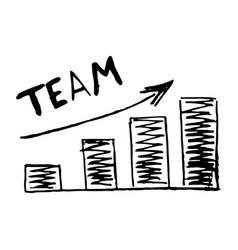 Hand drawn chart graphic development team vector