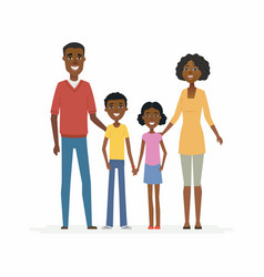 Happy african family - cartoon people characters vector