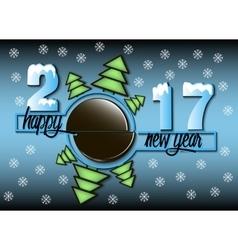 Happy new year 2017 and hockey vector