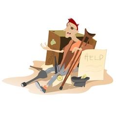 Homeless vector
