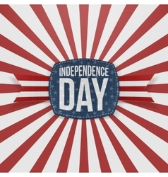Independence day greeting badge with type vector