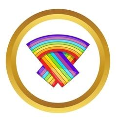 Lgbt flag icon vector