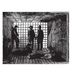 Little rock prison vintage vector