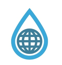 Logo combination of water and earth vector