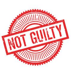 Not guilty stamp vector