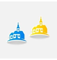 Realistic design element church vector