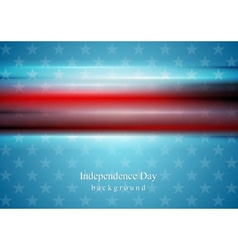 Red smooth stripes on blue star background usa vector