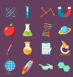 Science Icon Flat Color Set vector image vector image