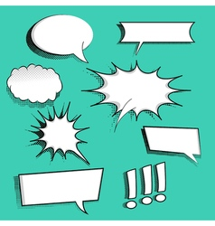 Set of comic speech bubbles vector image vector image