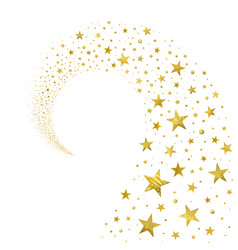 swirl of gold stars vector image