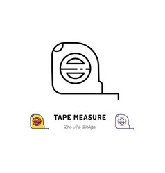 tape measure icon building and household tools vector image