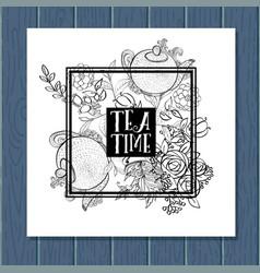 tea time design banner templates set vector image vector image