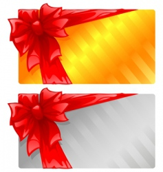 two gift cards vector image