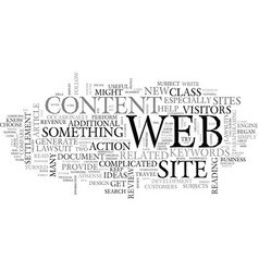 Web site content ideas for webmasters text word vector