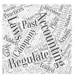 Why regulate accounting word cloud concept vector