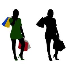 women shopping vector image vector image