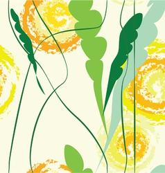 yellow dandelion vector image