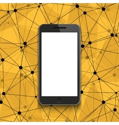 modern smartphone on polygonal background vector image