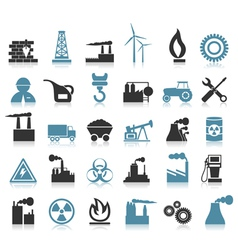 Industrial icons8 vector image