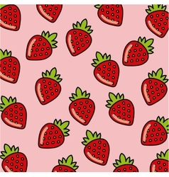 Background of strawberry fruit vector