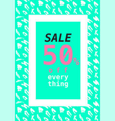 Summer sale design layout template with pattern vector