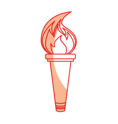 Olympic torch isolated icon vector