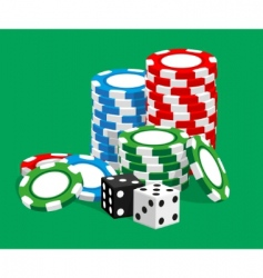Casino illustration vector