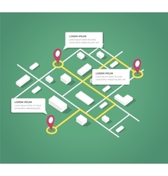 Isometric city map design elements vector