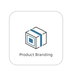 Product branding icon flat design vector