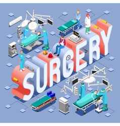 Surgery 01 concept isometric vector