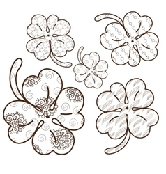 Clover leaves adult coloring page 5 seamless vector