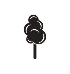 Black icon on white background cotton candy vector
