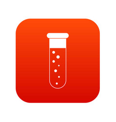 Blood test icon digital red vector
