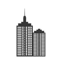 Building tower silhouette icon vector image