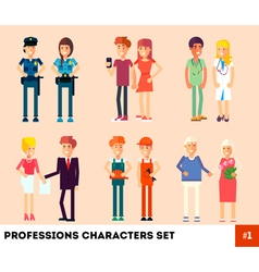 Characters Set vector image