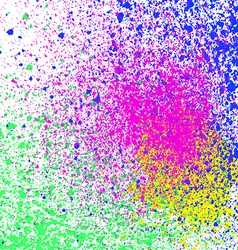 Colorful acrylic paint splatter blob on white vector