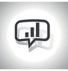 Curved volume scale message icon vector