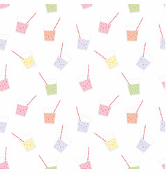 Drink seamless pattern for design vector