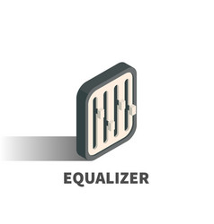equalizer icon symbol vector image
