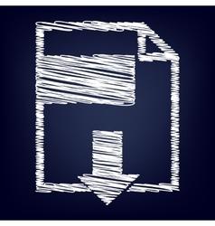 File download icon vector