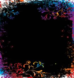 grunge rainbow background vector image vector image