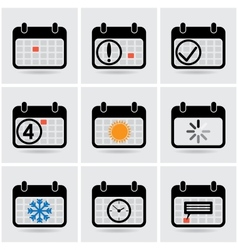 icons of calendar vector image