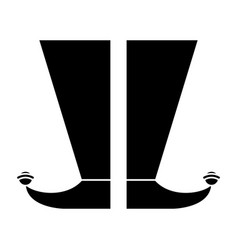 jester boots shoes image pictogram vector image