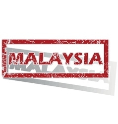 Malaysia outlined stamp vector