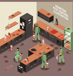 Pest control isometric vector