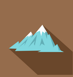 Rocky mountains icon flat style vector
