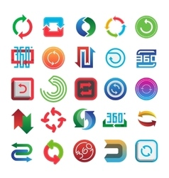Rotate and 360 web icons set vector image
