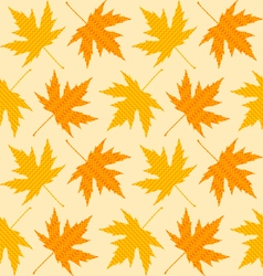 Seamless textures of autumn leaves vector image
