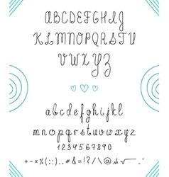 Set capital english handwriting font font handmade vector